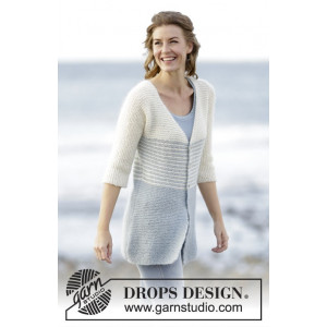 Irish Sea Cardigan by DROPS Design - Jakke Strikkeopskrift str. S - XXXL