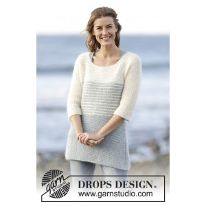 Irish Sea by DROPS Design - Bluse Strikkeopskrift str. S - XXXL