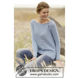 Morning at Home by DROPS Design - Bluse Strikkeopskrift str. S - XXXL