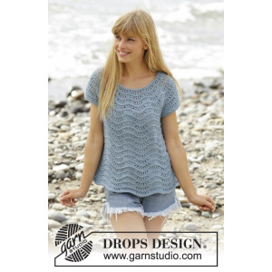 Shore Line by DROPS Design - Top Strikkeopskrift str. S - XXXL