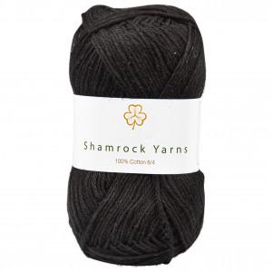 Shamrock Yarns 100% Bomuld 8/4 Garn 01 Sort