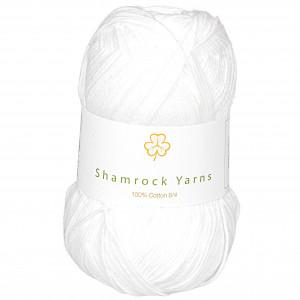 Shamrock Yarns 100% Bomuld 8/4 Garn 02 Hvid