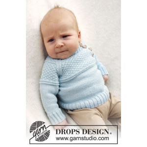 McDreamy by DROPS Design - Baby Blue Strikkeopskrift str. 1/3 mdr - 3/4 år