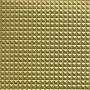 Kunstlæder Pyramider Stof 140cm 18 Guld metallic - 50cm