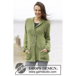 Autumn Forest Jacket by DROPS Design - Jakke Strikkeopskrift str. S - XXXL