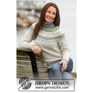 October Dream by DROPS Design - Bluse med nordisk mønster Strikkeopskrift str. S - XXXL