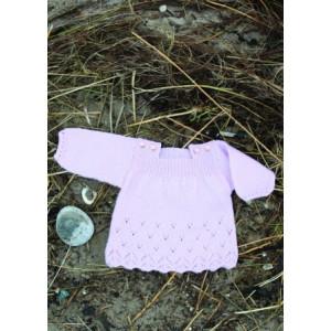Mayflower Babykjole med Hulmønster - Tunika Strikkekit str. 0/1 mdr - 4 år
