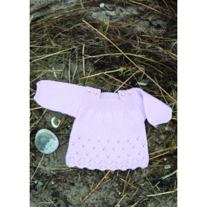 Mayflower Babykjole med Hulmønster - Tunika Strikkeopskrift str. 0/1 mdr - 4 år
