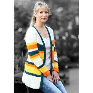 Mayflower Stribet Cardigan - Jakke Strikkeopskrift str. S - XXL