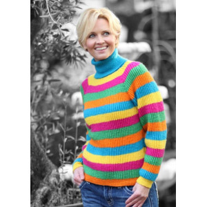Mayflower Stribet Sweater - Bluse Strikkeopskrift str. S - XXL
