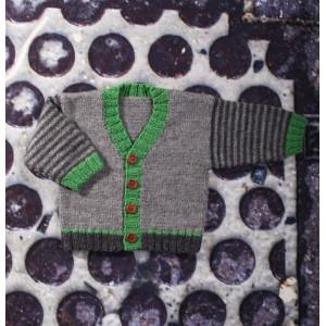 Mayflower Babytrøje med V-hals - Bluse Strikkeopskrift str. 0/1 mdr - 4 år