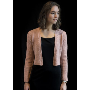 Mayflower Kort Cardigan - Cardigan Strikkeopskrift str. S - XXXL