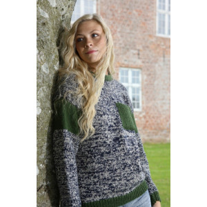 Mayflower Sweater med Brystlomme - Bluse Strikkeopskrift str. S - XXXL