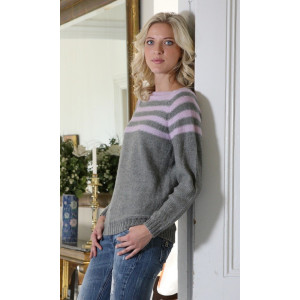 Mayflower Sweater med Striber - Bluse Strikkeopskrift str. S - XXXL