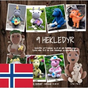 9 hekledyr - Norsk - Bog fra Go handmade