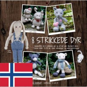 8 strikkede dyr - Norsk - Bog fra Go handmade