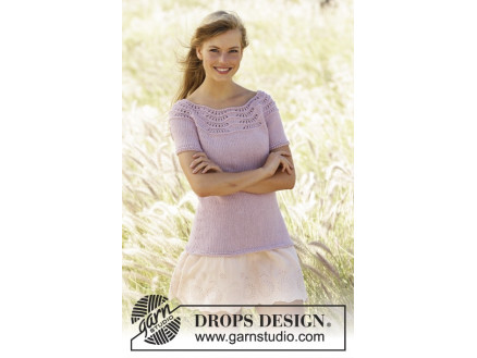 Image of   Becca by DROPS Design - Top Strikkeopskrift str. S - XXXL