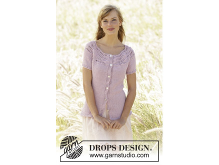 Image of   Becca Cardigan by DROPS Design - Jakke Strikkeopskrift str. S - XXXL