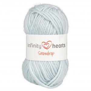 Infinity Hearts Snowdrop Garn 06 Himmelblå