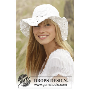 Country Girl by DROPS Design - Hat Hæklekit 54/56 - 58/60 cm