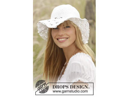 Image of   Country Girl by DROPS Design - Hat Hækleopskrift 54/56 - 58/60 cm