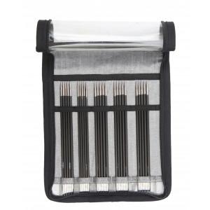 KnitPro Karbonz Strømpepindesæt Kulfiber 15 cm 2-4 mm 5 størrelser