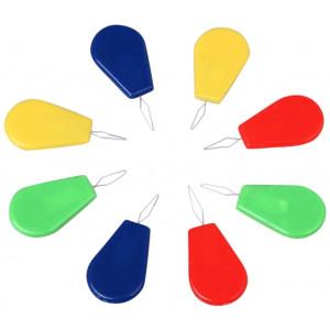 Infinity Hearts Nåletræder / Nåletråder Plastik Ass. farver - 10 stk
