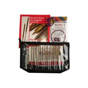 KnitPro Symfonie Udskiftelige rundpindesæt Birk 60-80-100-120 cm 3,5-8 mm 8 størrelser