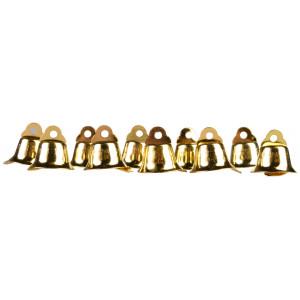 Infinity Hearts Klokker / Juleklokker Guld 15mm - 10 stk