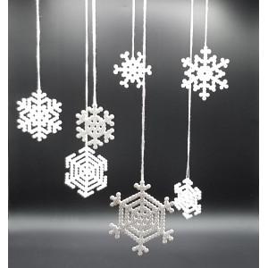 Perle Snefnug af Rito Krea - Perlemønster 6x6-9x9cm - 7 stk