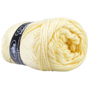 Mayflower Cotton 8/4 Garn Unicolor 1404 Vaniljegul