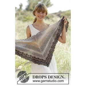 Cafe by DROPS Design - Sjal Strikkekit 150x50 cm