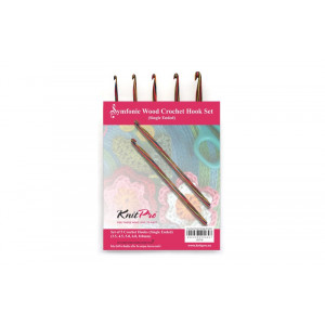 KnitPro Symfonie Hæklenålesæt Birk 15,3 cm 3,5-8 mm 5 størrelser