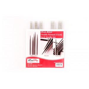 KnitPro Nova Metal Strømpepindesæt Messing 15 cm 2-4 mm 5 størrelser