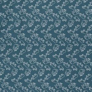 Bomuldspoplin Stof 150cm 024 Vilde Dyr - 50cm