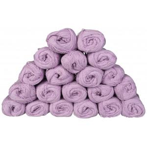 Infinity Hearts Bomuld 8/4 Garn Unicolor 153 Lyselilla - 20 stk