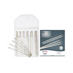KnitPro Nova Cubics Strømpepindesæt Messing 15cm 2-4mm 5 størrelser