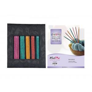 KnitPro Dreamz Strømpepindesæt Birk 15 cm 2-4 mm 5 størrelser