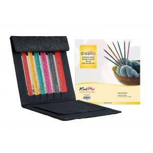 KnitPro Dreamz Strømpepindesæt Birk 20 cm 2,5-5 mm 6 størrelser