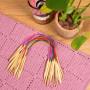 Infinity Hearts Rundpindesæt Bambus Natur/Print 40cm 2-10mm - 18 størrelser