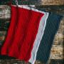 Køkkenhåndklæde af Rito Krea - Håndklæde Strikkeopskrift 44x27 cm - 3 stk.