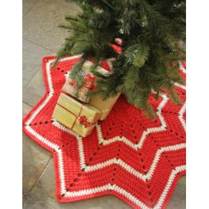 Under the Christmas Tree by DROPS Design - Juletræstæppe Hækleopskrift 95 cm