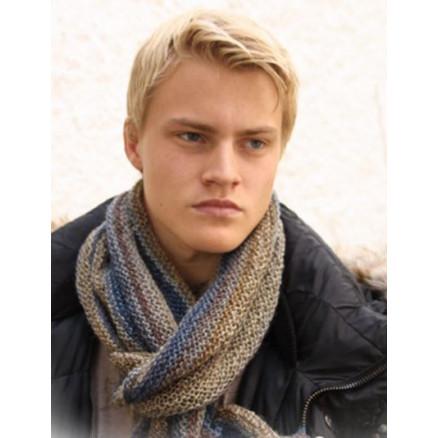 Billede af Adam by DROPS Design - Halstørklæde Strikkeopskrift 150x22 cm