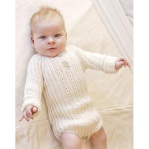 Simply Sweet by DROPS Design - Baby bodystock Strikkeopskrift str. Præmatur - 3/4 år