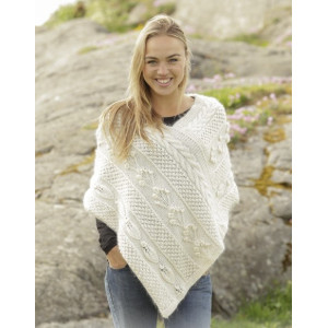 Snow Beads by DROPS Design - Poncho Strikkeopskrift str. S/M - XXL/XXXL