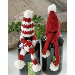 North Pole Pals by DROPS Design - Julepynt, Hue og Halstørklæde til flaske Strikkekit