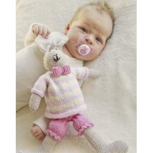 Mrs. Bunny by DROPS Design - Baby Bamse Strikkeopskrift