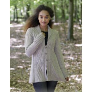 Morgan's Daughter Jacket by DROPS Design - Jakke Strikkeopskrift str. S - XXXL