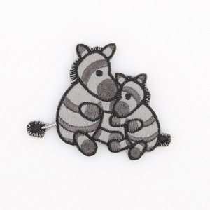 Go handmade Strygemærke Zebraerne Paula & Peter 5,5x7 cm - 1 stk