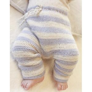 Heartthrob Pants by DROPS Design - Baby Bukser Hækleopskrift str. 1/3 mdr - 3/4 år